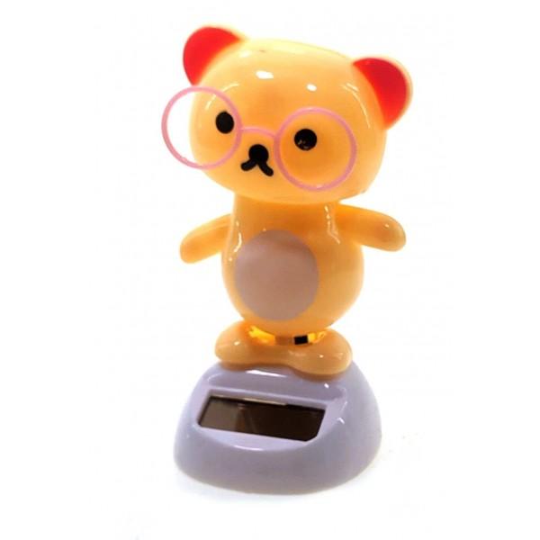 Медведь Танцует, Статуэтка на Солнечной батарее 10,5х6х6 см Flip Flap
