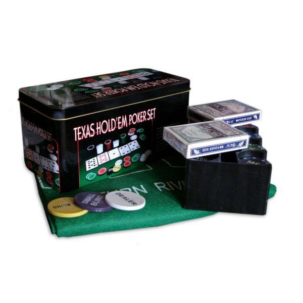 Покерный Набор 200 фишек с Номиналом, Сукно, Коробка Poker Set