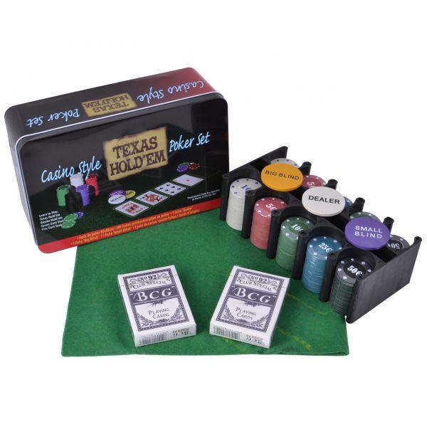 Покерный Набор 200 фишек с Номиналом, Сукно, Коробка