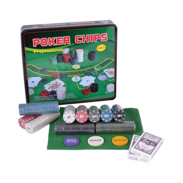 Покерный Набор 240 фишек с Номиналом, Сукно, Коробка