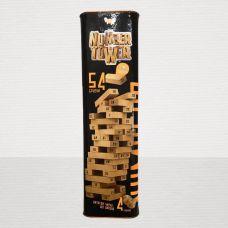 Настольная Игра Дженга Number Tower (Падающая Башная) 54 бруска