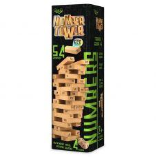 Настольная Игра Дженга Number Tower (Падающая Башная) 54 бруска Green