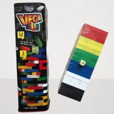 Настольная Игра Дженга Vega Color (Падающая Башная) 54 бруска Black