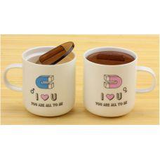 Чашки Магниты любви, набор 2 шт