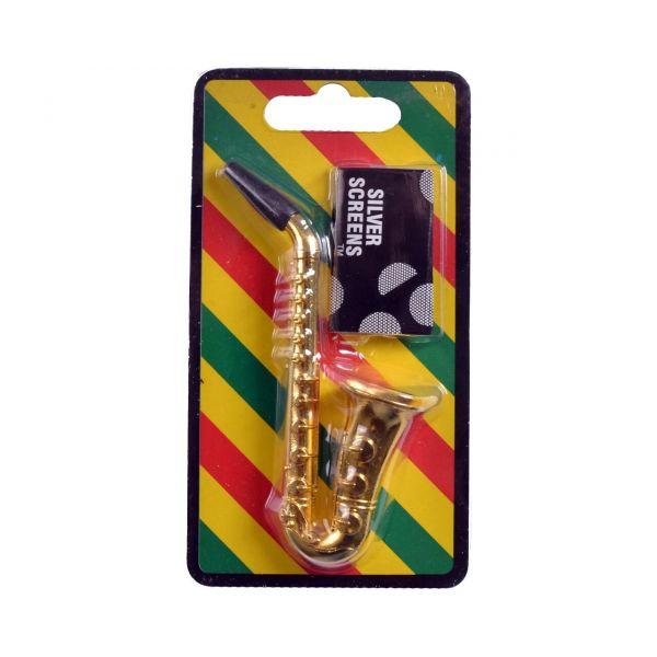 Трубка Курительная Саксофон Gold
