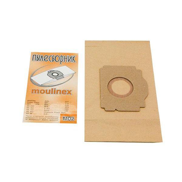 Мешки для пылесоса Moulinex M02 Поштучно Одноразовые