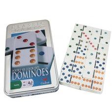 Домино в металлической коробке, Настольная Игра, White Star, 18x11x2 см