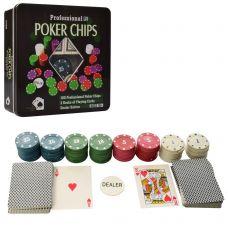 Набор для игры в покер 100 фишек, Две колоды карт, Maxland