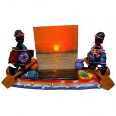 Африканцы в лодке с фоторамкой (19х11,5х5 см) Home Place