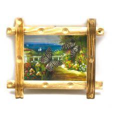 Картина Бабочки в рамке на фоне 2шт (20х30х3) Diablo