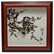 Картина Бабочки в рамке (30х30х3 см) Abstract