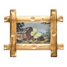 Картина Бабочка в рамке на фоне (19х24х3,5 см) Space