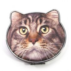 "Зеркальце косметическое ""Кошка"" (8х7,5х1,5 см)"