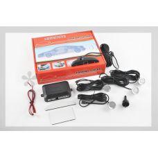 Парктроник mod:LH-811B (датчики серебристые 4шт, LCD, штурман, монтажный комплект) KAMEILONG