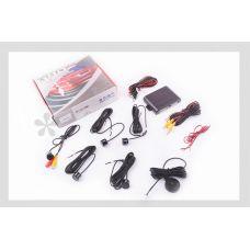 Парктроник mod:PA104 (датчики черные 4шт, CMOS камера , видеовыход, монтажный комплект) THOR