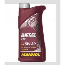 Масло автомобильное, 1л (SAE 5W-30, Diesel TDI 5W-30 API SN/SM/CF) MANNOL