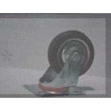 Колесо для тачек и платформ (литая резина) (75mm, поворотный с креплением) MRHD