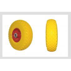 Колесо 3,00 -4 TL (бескамерное, под ось d-20мм) (силикон, желтое) ELIT