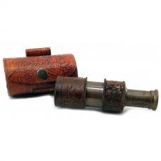 Подзорная труба в кожаном футляре (11х3,3х3,3 см) Darshan