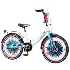 """Велосипед """"Fancy"""" 20"""" (бело-голубой)"""