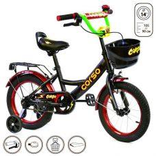 """Велосипед 2-х колёсный """"Corso"""" 14"""" (черный)"""