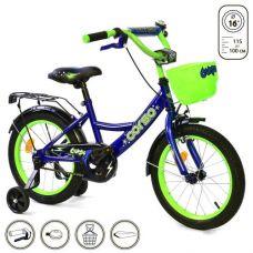 """Велосипед 2-х колёсный """"Corso"""" 16"""" (синий)"""