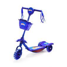Самокат 3-х колесный с музыкой (синий)