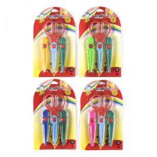 Канцелярские фигурные ножницы с 3-мя насадками
