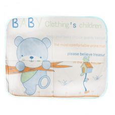 """Клеёнка двухслойная """"Медвежонок"""", 75 х 54 см (голубая)"""
