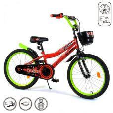 """Велосипед 20"""" дюймов 2-х колесный R-20273 """"CORSO""""(1) новый ручной тормоз, звоночек, корзинка, поднож"""