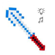 "Алмазная лопата ""Майнкрафт"" свет, звук (красно-белая)"