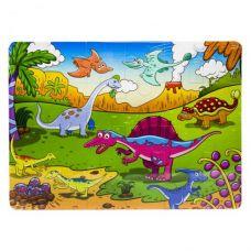 """Деревянный пазл """"Динозавры"""", 24 детали"""