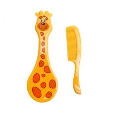 """Набор для ухода за младенцем """"Расчёска-щётка: Жираф"""" (жёлтый)"""
