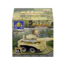 Детский Конструктор танк, 32 детали