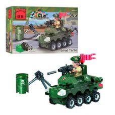 Конструктор Combat Zones: Маленький танк, 69 деталей