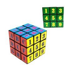 Головоломка Кубик Рубика с цифрами и буквами 3 х 3 х 3