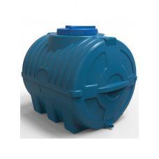 бак для воды 200 литров трехслойный синий горизонтальный