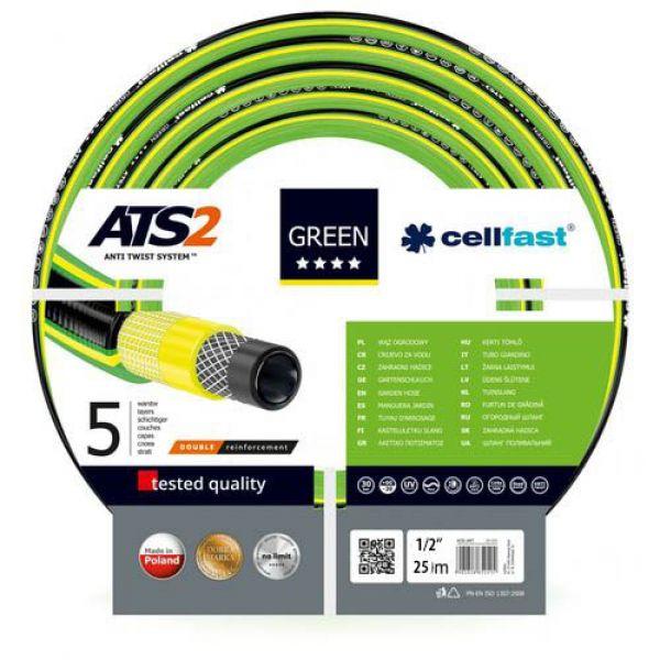 """Шланг Cellfast 1/2"""" Green 25 м, Садовый для полива"""