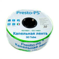 Капельная лента Presto-PS эмиттерная 3D Tube капельницы через 30 см, расход воды 2,7 л/ч, 500 м