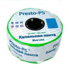Капельная лента Presto-PS щелевая Blue Line отверстия через 15 см, расход воды 2,2 л/ч, 1000 м