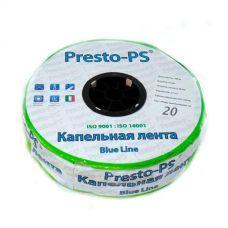 Капельная лента Presto-PS щелевая Blue Line отверстия через 20 см, расход воды 2,4 л/ч, 500 м