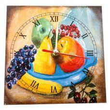 """Настенные часы """"Виноград"""" (15 х 15см) Homade"""