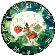 """Настенные часы """"Клубника"""" (D-20 см) Homade"""
