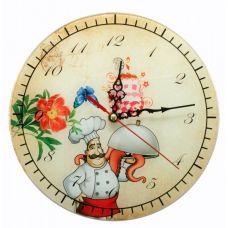 """Настенные часы """"Повар"""" Стекло (D-25 см) Homade"""