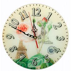 """Настенные часы """"Париж"""" Стекло (D-25 см) Homade"""