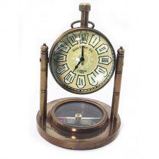 Часы настольные с компасом (10,5х7,5х7,5 см) A Homade