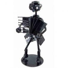 "Техно-арт ""Дама с баяном"" металл (18,5х8х7,5 см) черный Home Place"