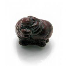 Статуэтка Бегемотики пара каменная крошка (3,5х4,5х4 см)