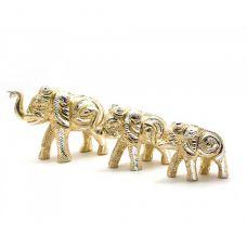 Слоны резные алюминий (наборр 3 шт) (11,5х7,5см8х6см8х5,5см) Home Place