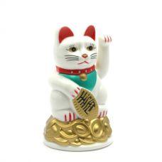 Статуэтка Кошка Манэки-Нэко машущая лапой пластик (11х7х7 см)